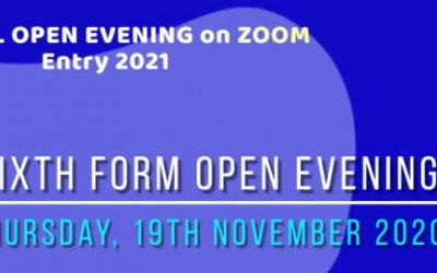 Sixth Form Open Evening for Entry in 2021 - Introductory and Subject Videos