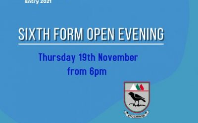 Sixth Form Open Evening for Entry in 2021
