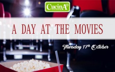 A Day at the Movies - Cucina theme menu for 17th Ocotober